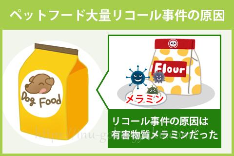 事件発生後のFDA(米国食品医薬品庁)やUSDA(米国農務省)の調査の結果、健康被害を引き起こした原因はフードの原料に使用されていた中国産の小麦粉だと判明。