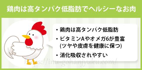 鶏肉はドッグフードの使用率NO.1!高タンパク低脂肪・消化吸収率もバツグン!