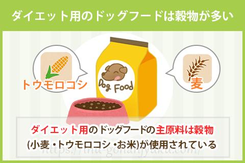 穀物入りのドッグフードはダイエットに効果的!?