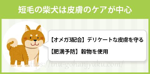 柴犬専用ドッグフードの特徴