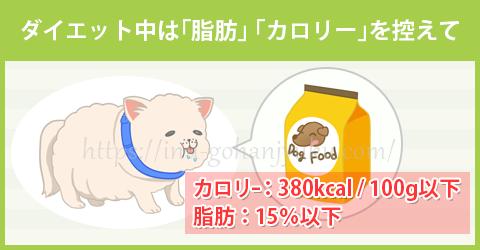 【ポイント①】脂肪・カロリーは控えめが安心