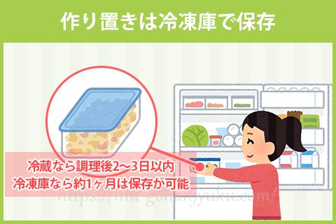 手作りご飯の保存について