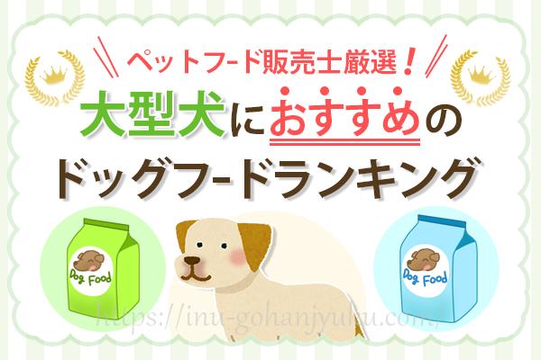 【ペットフード販売士厳選】大型犬(ラブラドールなど)におすすめのドッグフードランキング