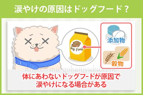 【原因③】ドッグフードが体にあっていない