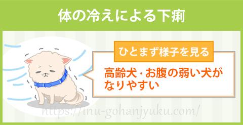 【危険性:低レベル】体の冷えによる下痢