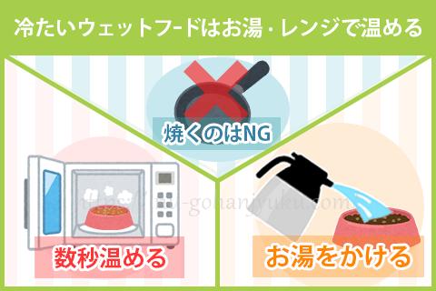 【ポイント2】冷たいまま与えて良い?焼く・レンジなど正しい温め方