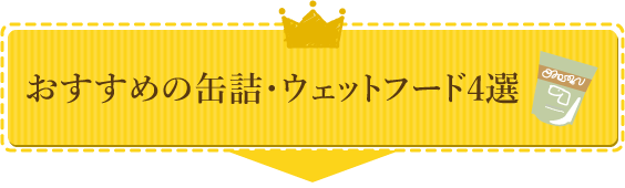 【おすすめの缶詰・ウェットフード4選】