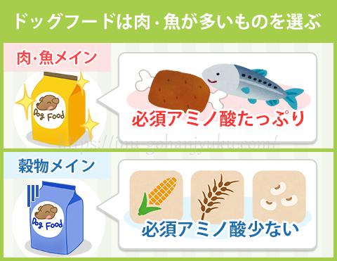 【ポイント3】主原料が肉、または魚