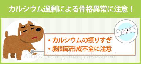 【ポイント4】大型犬の子犬にカルシウムを与えすぎない!