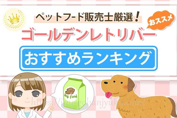 【ペットフード販売士厳選】ゴールデンレトリバーにおすすめの餌!安全ドッグフードランキング